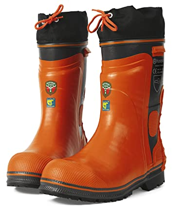 Amazon.com: Husqvarna Rubber Loggers Boots - US Size 9/European ...