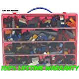 Perfect Life Made Better Toy Storage Organizer   Compatible With Lego Building  Bricks   Durable Carrying Case