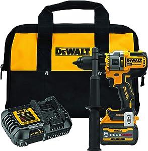 DEWALT FLEXVOLT ADVANTAGE 20V MAX Hammer Drill, Cordless, 1/2-Inch (DCD999T1)