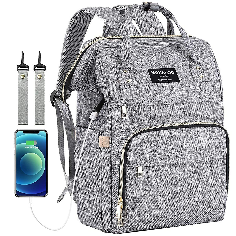Mokaloo Neutral Multifunction Large Diaper Bag Backpack