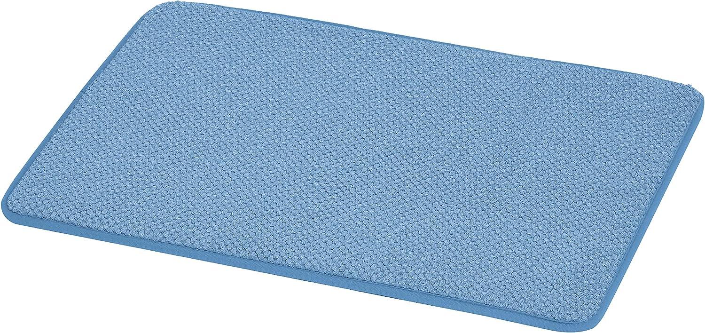 AmazonBasics Textured Memory Foam Bath Mat - Small, Blue