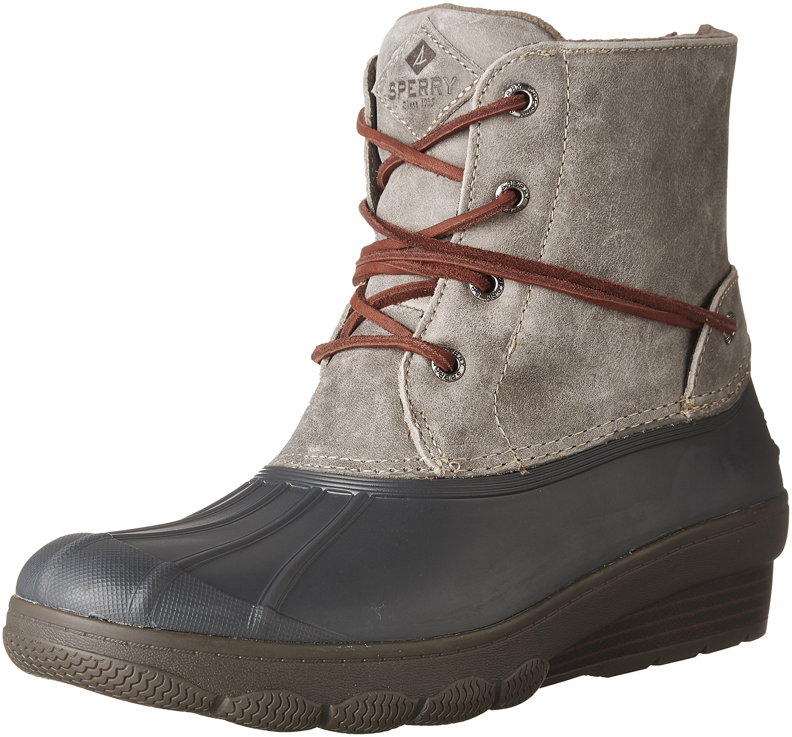 Sperry Top-Sider Women's Saltwater Wedge Tide Rain Boot, Grey, 8 Medium US by Sperry Top-Sider (Image #1)