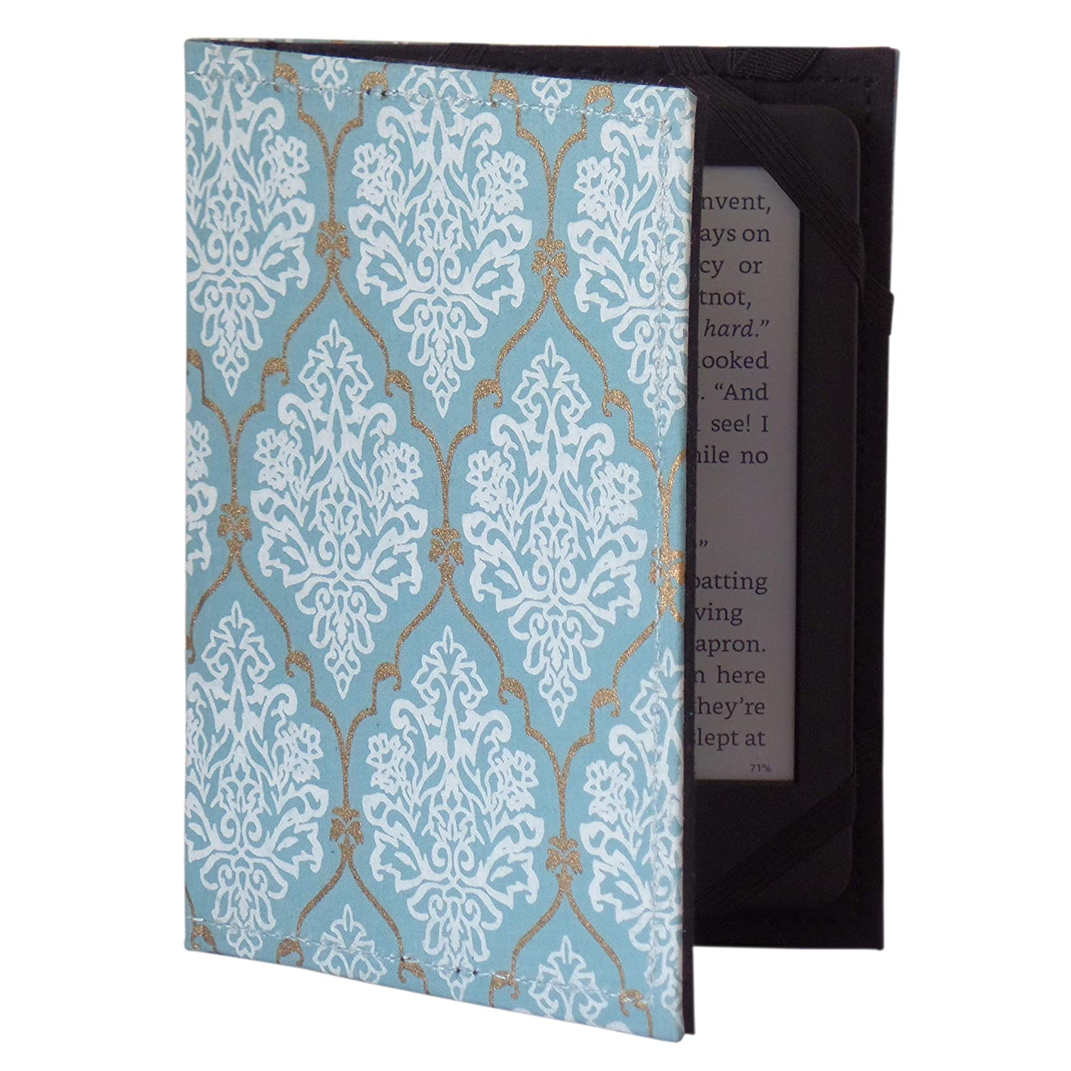 Jaipur Classic Cotton/Paper Kindle Case Cover, (fits Kindle Paperwhite, Kindle, and Kindle Touch) (Blue 45)