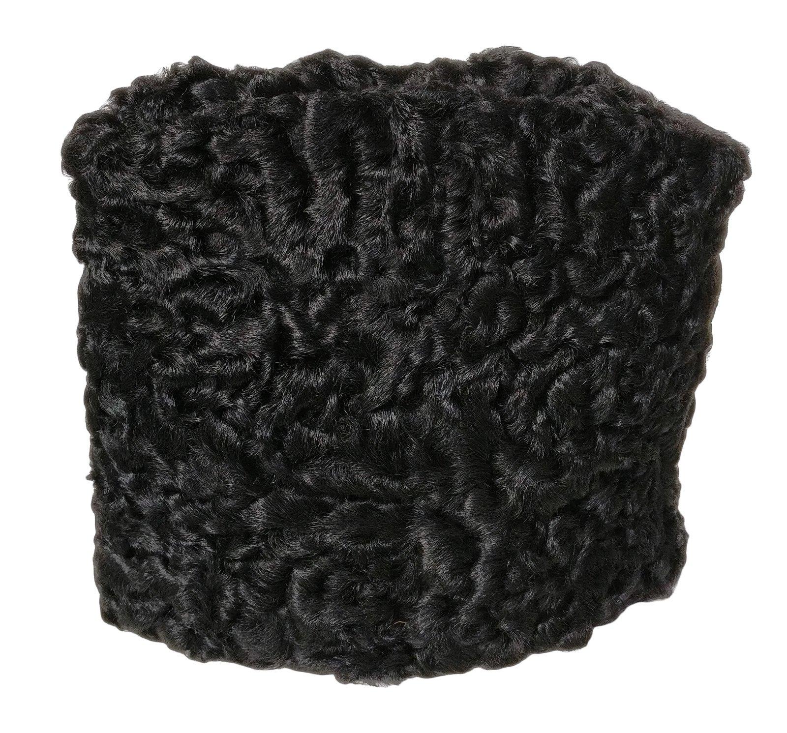 Persian Lamb Russian Empire General Hat (Small, Black)