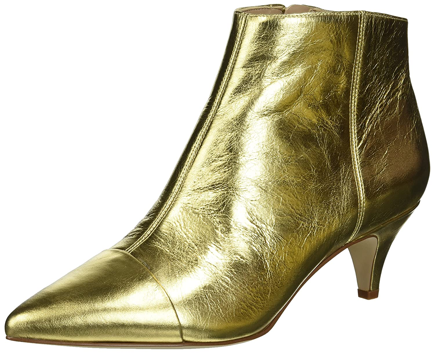 Sam Edelman Women's Kinzey 2 Ankle Boot B07BRCZ8WS 6 M US|Bright Gold/Metallic Distressed Leather