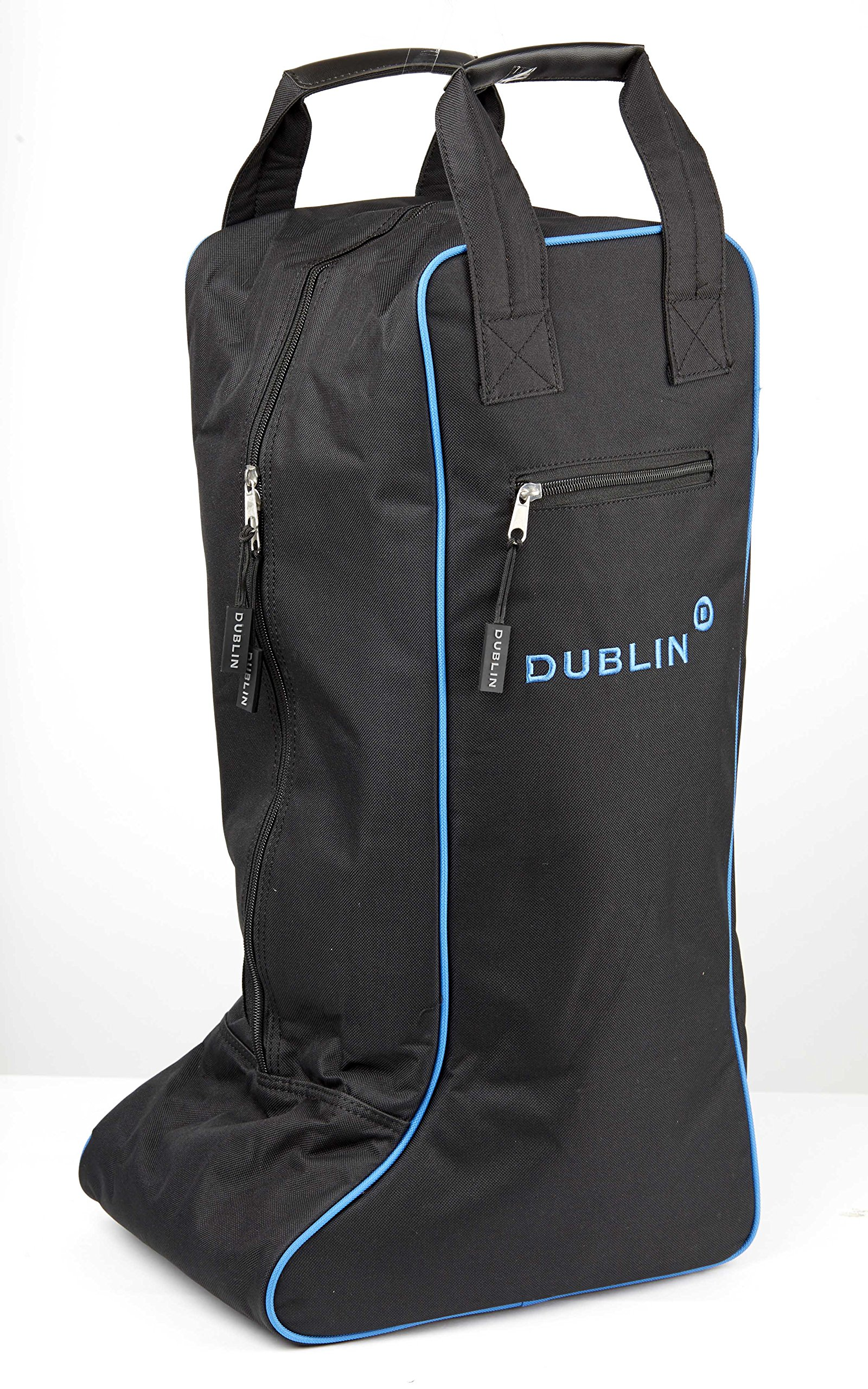 Dublin Imperial Tall Boot Bag, Black/Blue