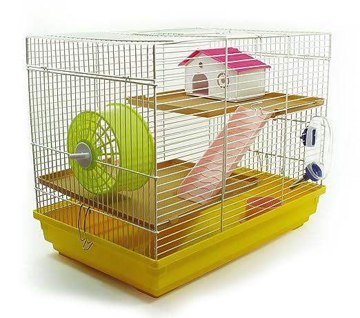 Jaula grande para hamster o pequeño/mediano roedor: Amazon.es: Hogar