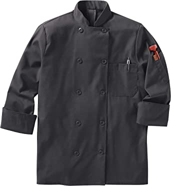 Red Kap Womens Long Sleeve Ten Button Chef Coat with Mimix and Oilblok