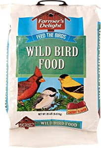 Wagner's 53003 Farmer's Delight Wild Bird Food With Cherry Flavor, 20-Pound Bag