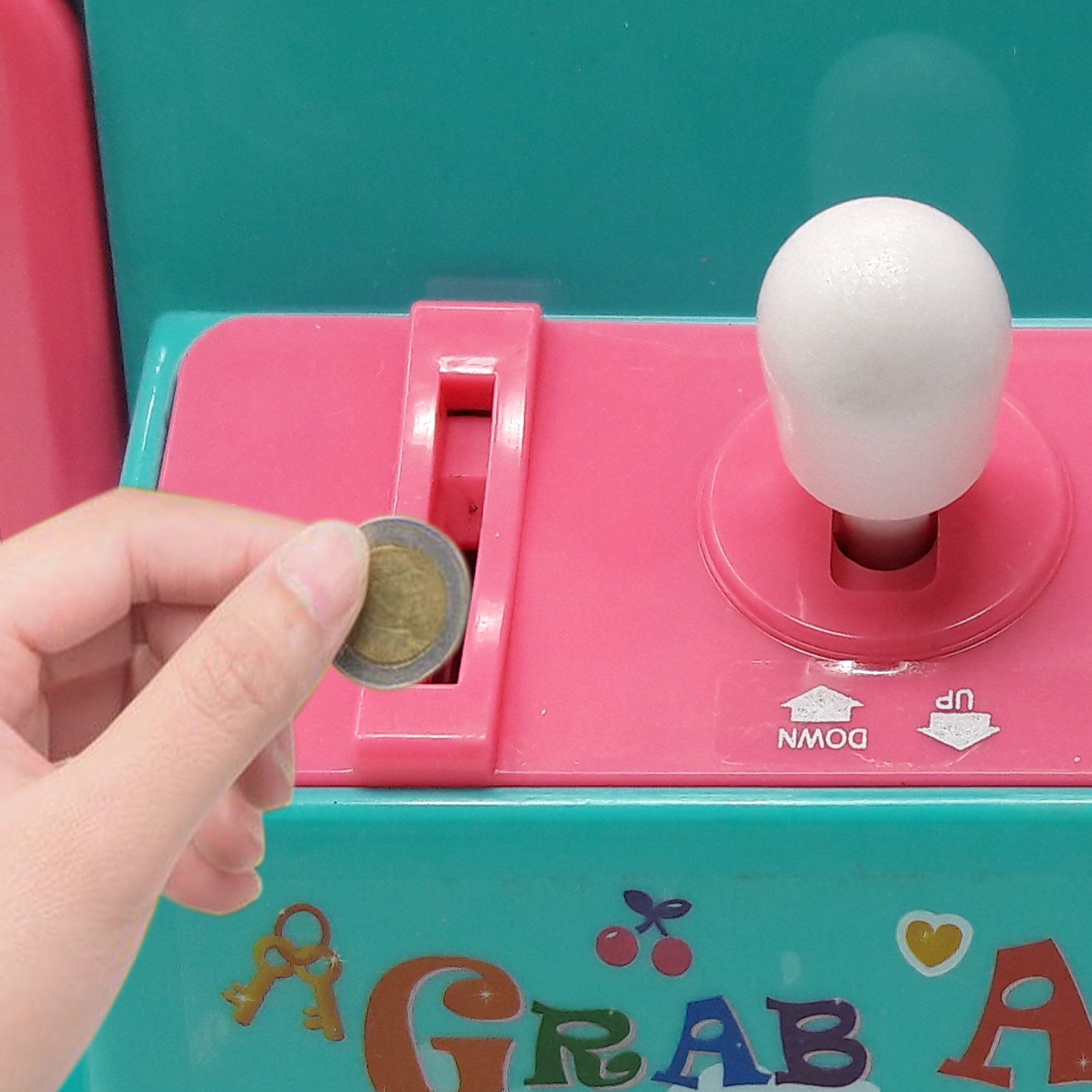 Claw Home Arcade Game Prize Grabber Carnival LED Lights Animation Adjustable Sounds USB Port Cable with 10 Plush Toys and 12 Filled Eggs by TSF TOYS (Image #4)
