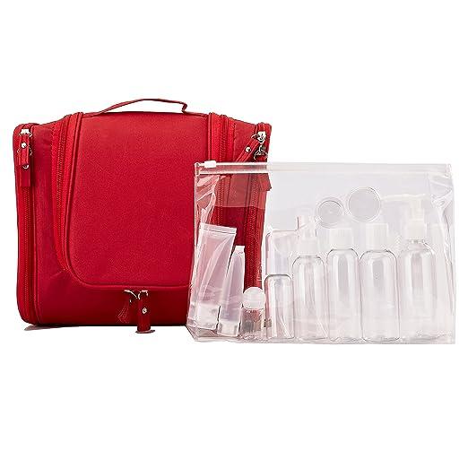 2 opinioni per Beauty Case da Viaggio Borsa da Toilette e Bottiglie da Viaggio (14pz)- per