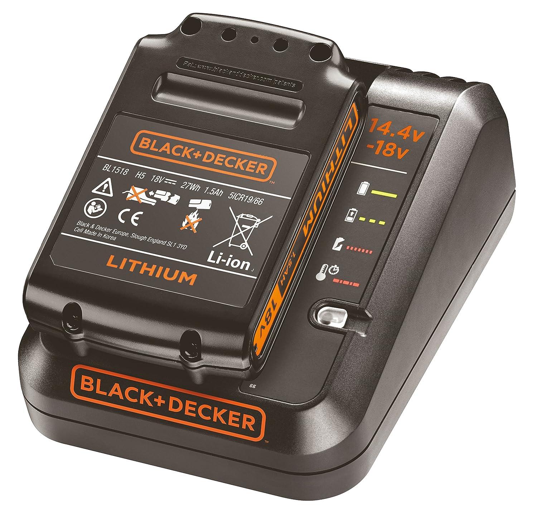 BLACK+DECKER BDC1A15-QW - Pack batería de litio 18V de 1.5Ah y cargador de 1Ah