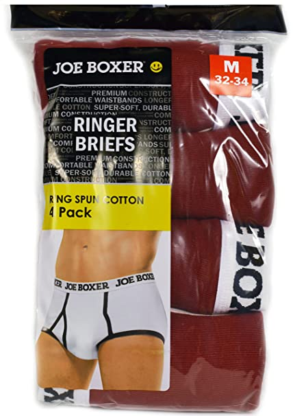 Joe Boxer Men 4 Pairs Ringer Briefs First Quality Xxl Amazonca