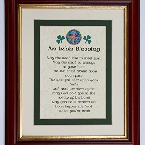 Amazon.com: Framed Irish Blessing Print by Heraldry Names: Posters ...