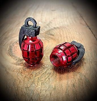 TOMALL Red Grenade Tire V/álvula Stem Caps para coche cami/ón bici