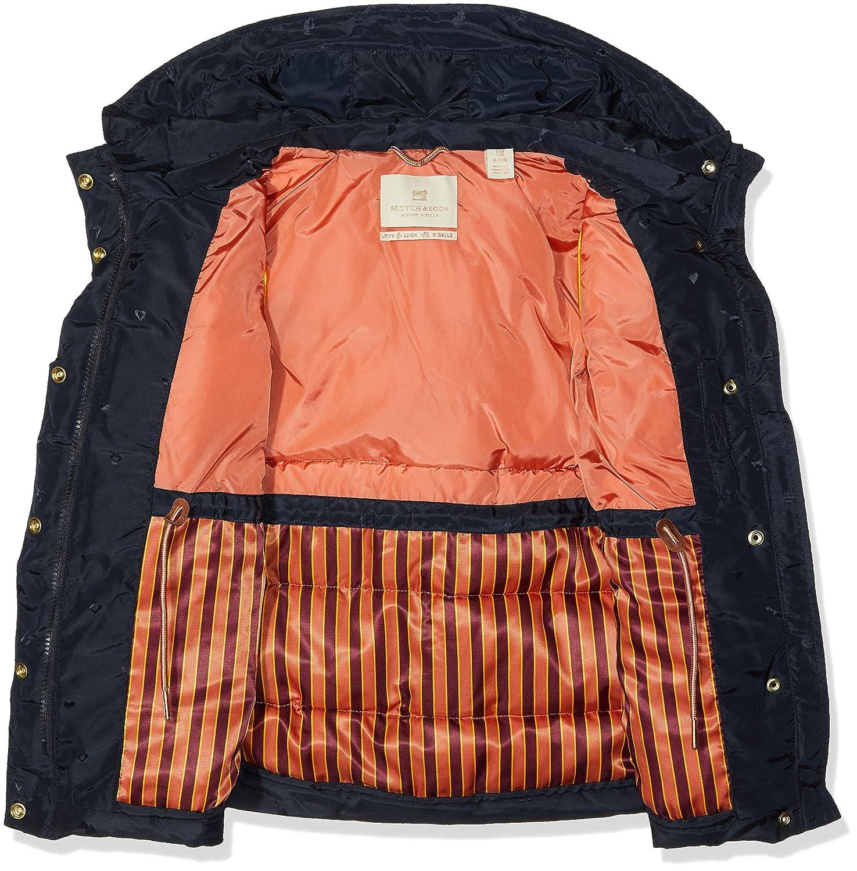 Giacca Bambina Scotch /& Soda Padded Jaquard Jacket with Double Hood Construction