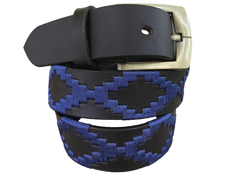 Carlos Diaz Cinturón de polo argentino de cuero Negro bordado para ...