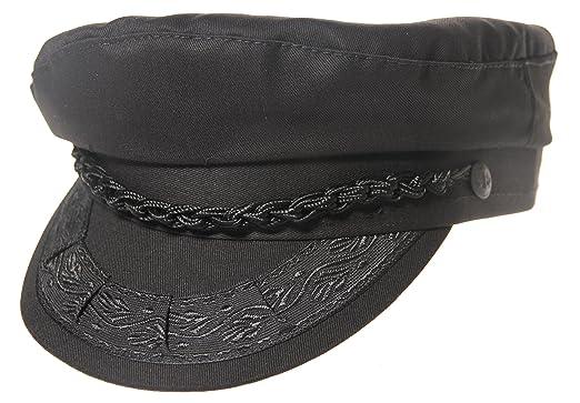 cbf3907c8ab Aegean Authentic Greek Fisherman s Cap - Cotton - Black - Size 54 - (6 3