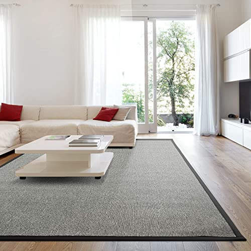 iCustomRug Zara Synthetic Sisal Collection Area Rug and Custom Size Runner
