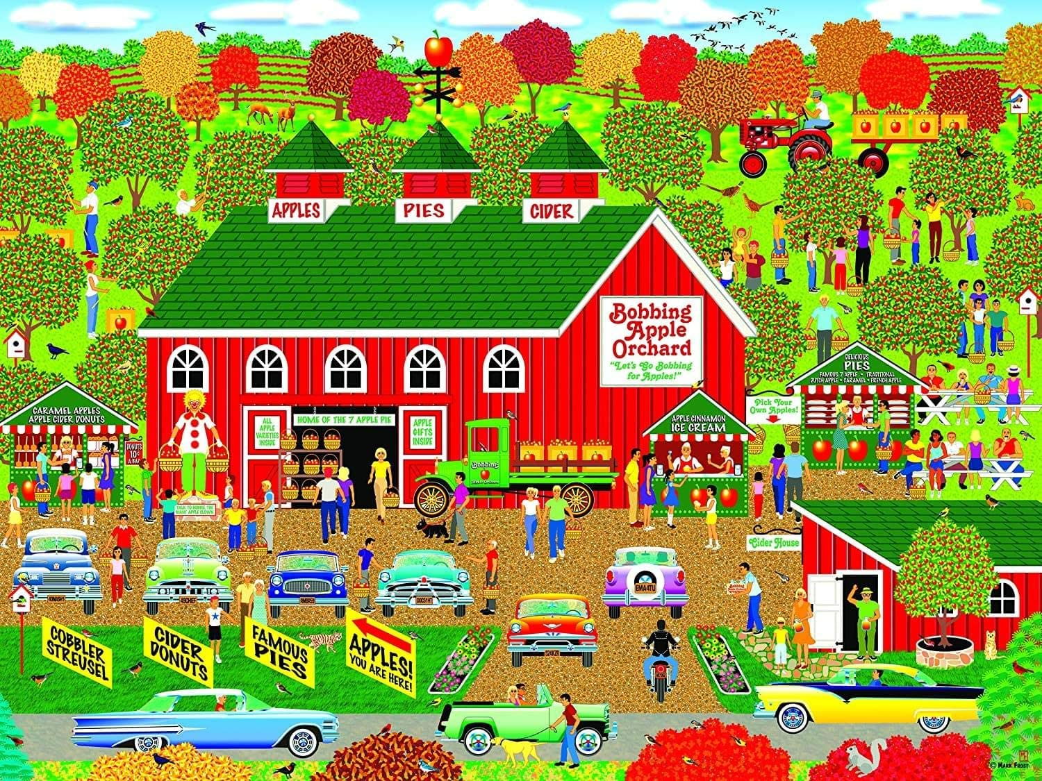 Bobbing Apple Orchard Farm, Home Country Collection 1000 Piece Jigsaw Puzzle by Artist: Mark Frost