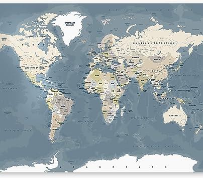 murando Fotomurales Mapamundi 400x280 cm XXL Papel pintado tejido no tejido Decoración de Pared decorativos Murales moderna de Diseno Fotográfico Mapa del mundo k-B-0063-a-a: Amazon.es: Bricolaje y herramientas