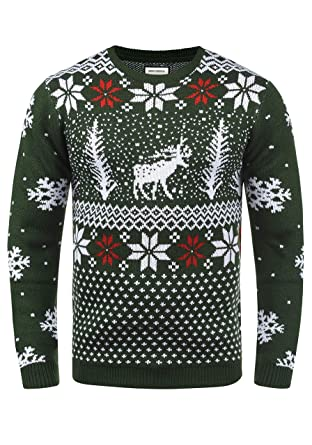 competitive price dacd0 ea4a9 Shine Original Pingo Herren Weihnachtspullover Winter Pullover  Strickpullover Weihnachtspulli mit Rundhals-Ausschnitt