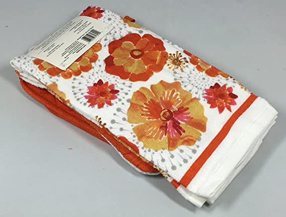 Amazon.com: Mainstays 7 Piece Kitchen Set, Marigold Flower: Home & Kitchen
