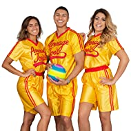 Dodgeball Average Joe's Adult Yellow Jersey Costume Set