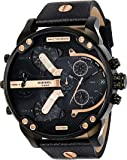 Diesel Men's Mr. Daddy 2.0 Analog-Quartz Leather Black with Black Dial DZ7350