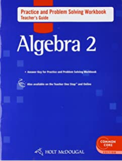 Amazon Com Holt Mcdougal Algebra 2 Practice And Problem Solving
