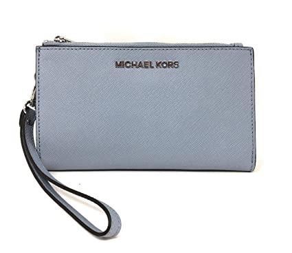 Michael Kors Jet Set Travel Double Zip Saffiano Leather Wristlet Wallet 2019 New Color