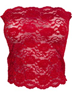 2e725780f0 Ally Rose Toppers Women s Stretchy Lace Bandeau Camisole 12