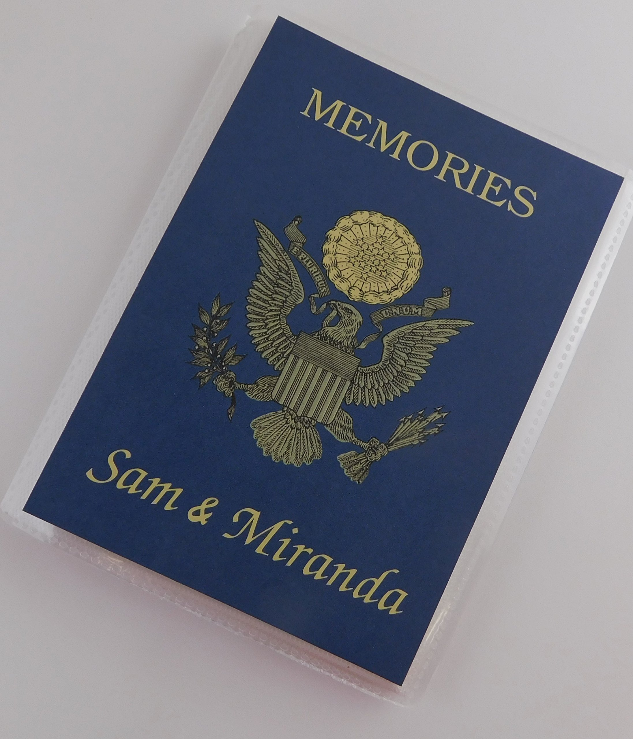 Vacation Photo Album IA#747 4x6 or 5x7 Pictures Passport USA Coat of Arms International Destination Travel