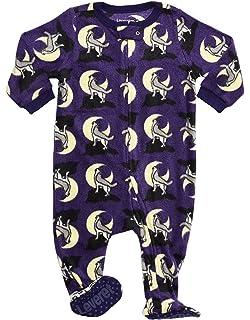 165888803 Amazon.com  Leveret Fleece Baby Girls Footed Pajamas Sleeper Kids ...