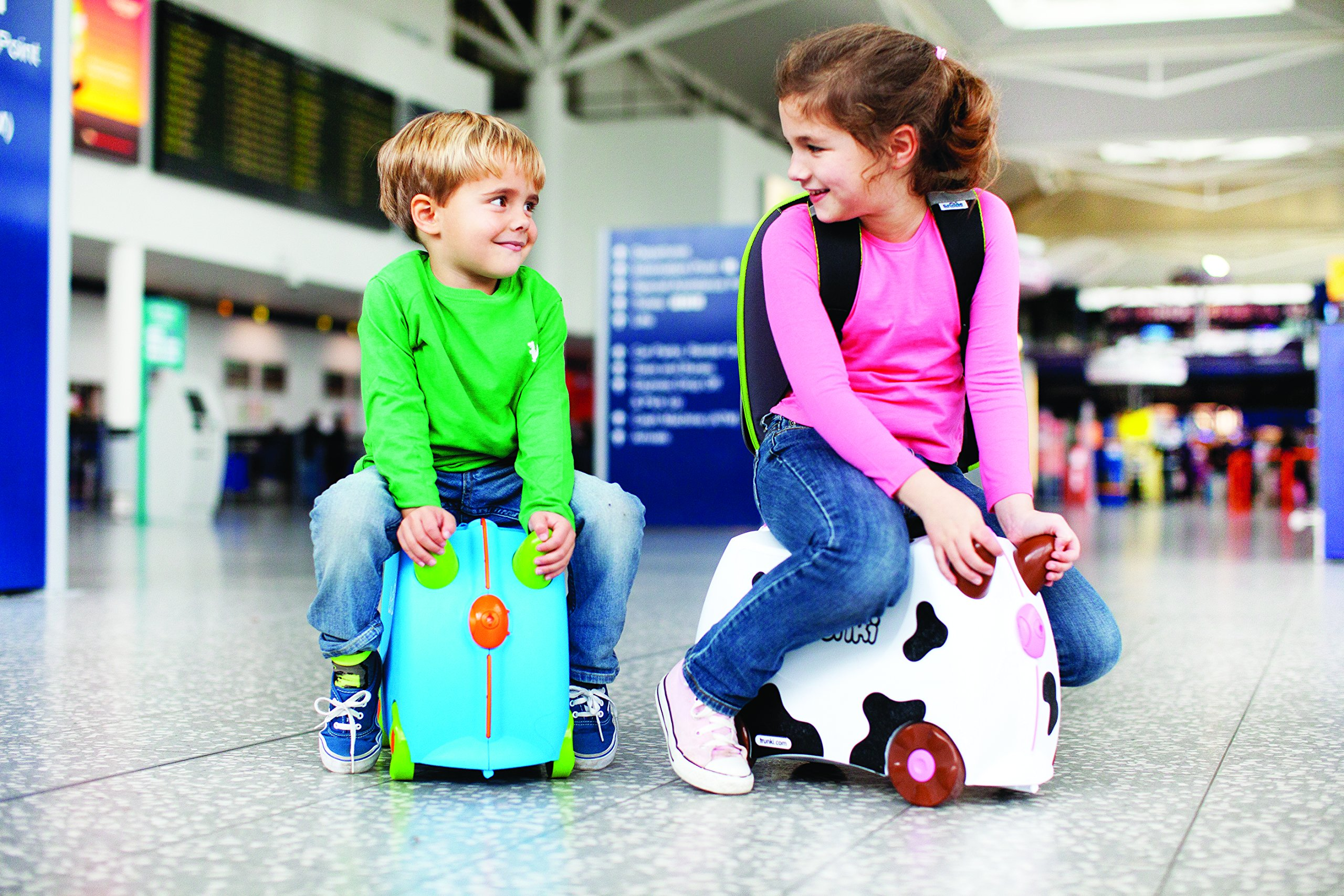 Trunki Original Kids Ride-On Suitcase and Carry-On Luggage - Terrance (Blue) by Trunki (Image #17)