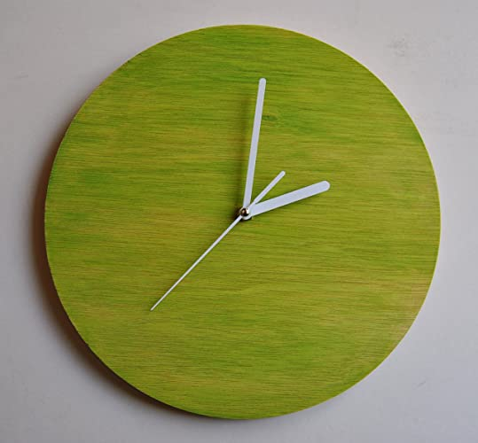 Reloj de pared. . Silencioso. Original pintado a mano.Madera contrachapada.