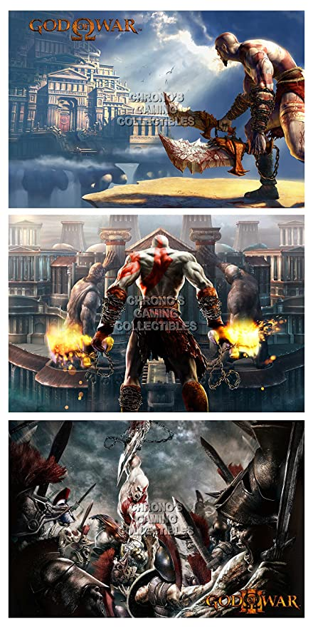 CGC enorme cartel - God of War 1 2 3 SET - Playstation PS2 ...
