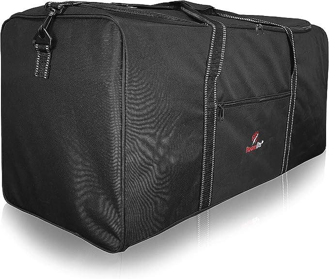 Bolsa de Viaje Extra Muy Grande Roamlite XL - Bolsa de Lona XXL para Equipaje Negro de 110 litros - 1 Bolsa Enorme - Plegable Plana para Almacenamiento, Viaje o Lavandería -