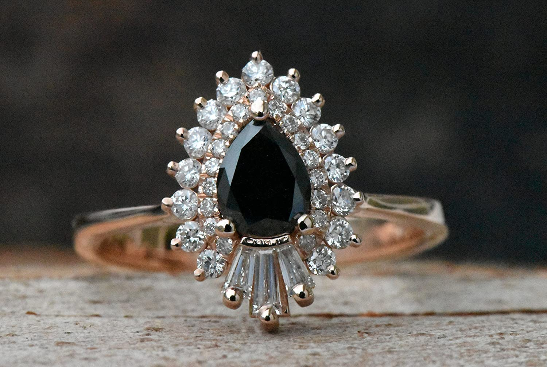 Rose gold engagement ring,Diamond vintage ring,Promise ring
