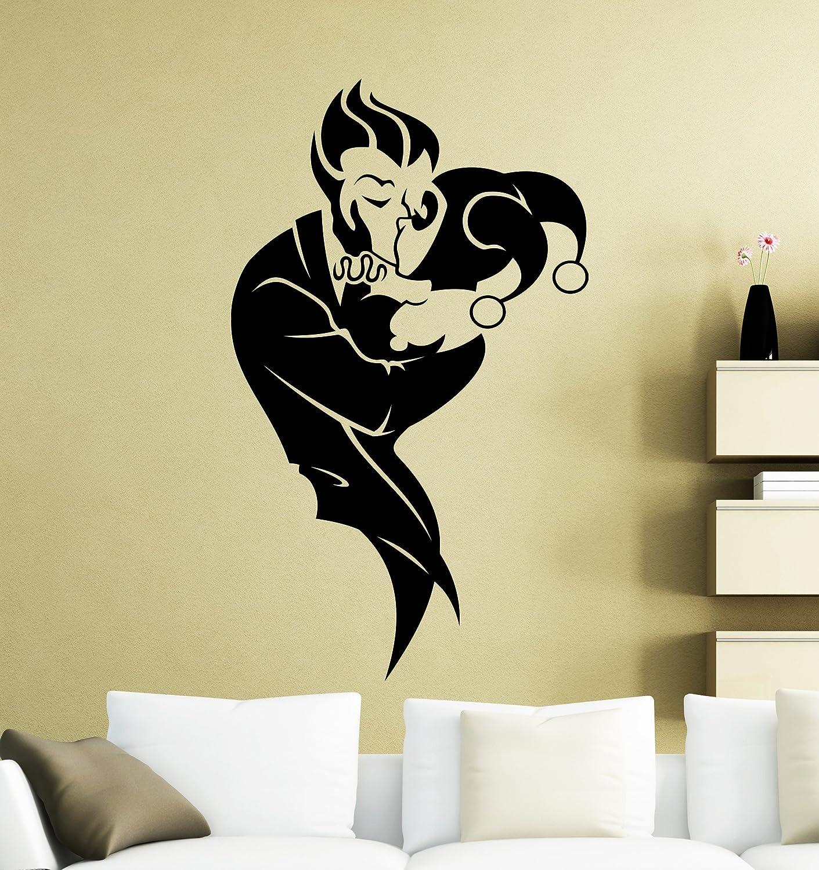 Joker and Harley Quinn Wall Sticker DC Marvel Comics Superhero Vinyl Decal Home Interior Decoration Waterproof High Quality Mural 233su