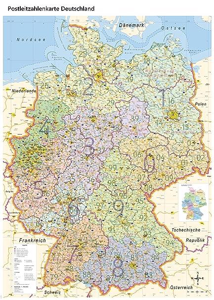 Xl Postleitzahlenkarte Deutschland Mit Laminierung Din B0 100 X