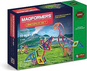 Magformers Dinosaur Set (55-pieces) MagneticBuildingBlocks, EducationalMagneticTiles Kit , MagneticConstructionSTEM Toy Set