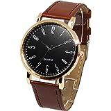 カジュアル腕時計 おしゃれ時計 ペアウォッチ レザーベルト ユニセックス デザイン ウォッチ