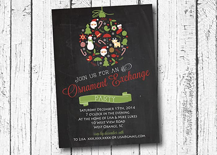 amazon com ornament exchange christmas party invitation cookie