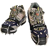 Yatta Life Heavy Duty Trail Spikes 14-Spikes Ice Grip Snow Cleats Footwear Crampons for Walking, Jogging, or Hiking on Snow and Ice