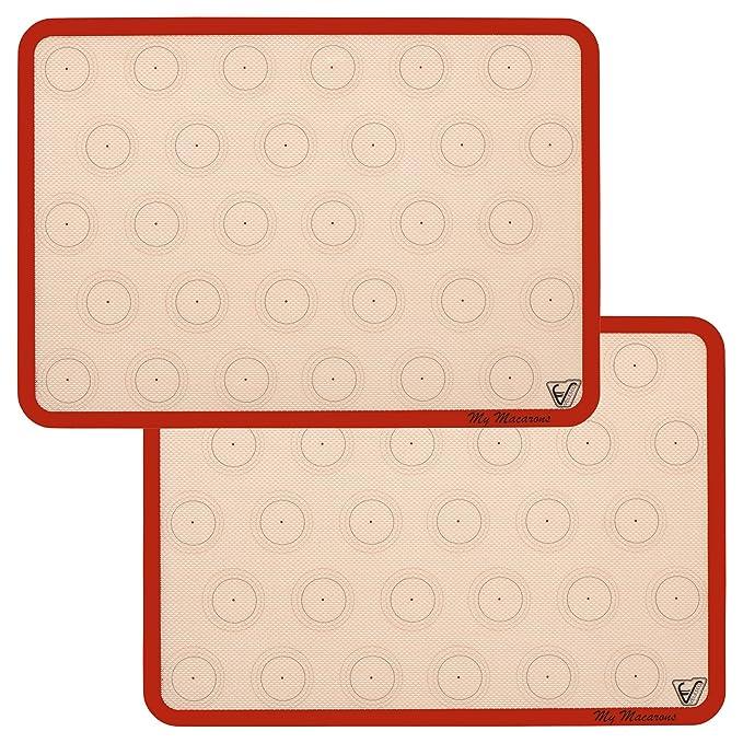 7 opinioni per Velesco Silicone Macaron Backmatte Set di 2 fogli di spessore e larghezza 11 5/8