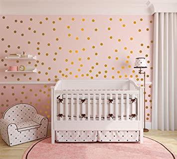 Amazon.com: Peel and Stick Metallic Copper Wall Decals Polka Dots ...