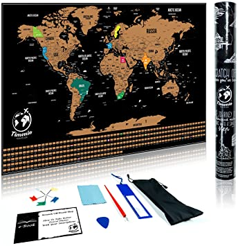 Scratch off world map poster with scratching pen guitar pick scratch off world map poster with scratching pen guitar pick magnifier cleaning cloth gumiabroncs Gallery