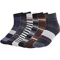 CREATURE Men's Cotton Ankle Length Formal/Casual Socks (Multicolour; Free Size, SCS-2701) -6 Pairs