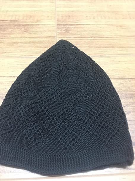 385600b276d Al-Ameen 7X Islamic Muslim Knitting Kufi Topi Prayer Hat Crochet Taqiyah  Takke Skull Cap  Amazon.co.uk  Clothing